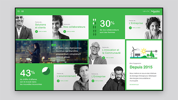 Schneider Electric (Social wall)